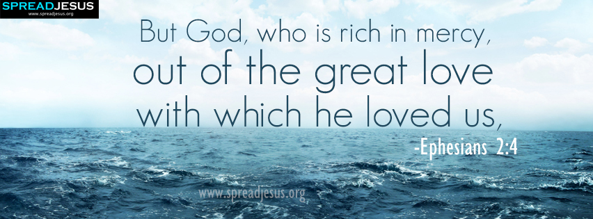 Bible Quotes Facebook Cover Ephesians 2:4 Download