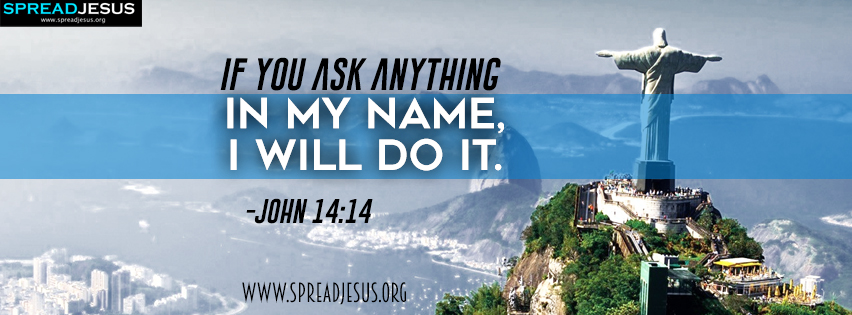 Bible Quotes Facebook Cover John 14:14 Download