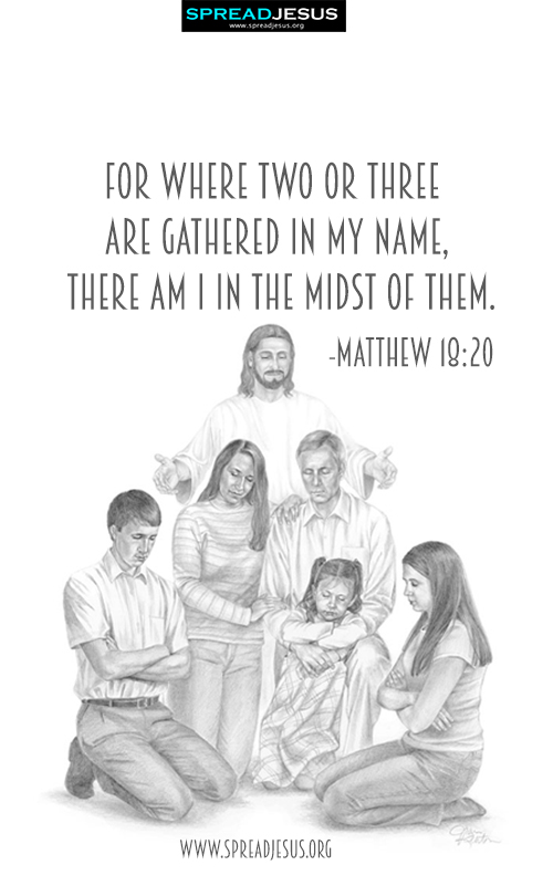 Bible Quotes Mobile Wallpapers-Matthew 18:20