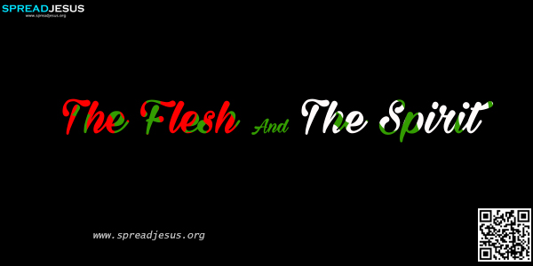 The Flesh And The Spirit The flesh is linked with Adam; the Spirit with Christ. Leaving aside now as settled the question of whether we are in Adam or in Christ, we must ask ourselves: Am I living in the flesh or in the Spirit?