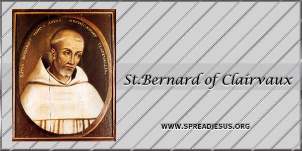 St.Bernard of Clairvaux Abbot Confessor Doctor of the Church