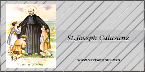 St.Joseph Calasanz Confessor