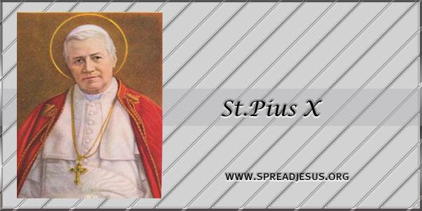 St.Pius X  Pope Confessor