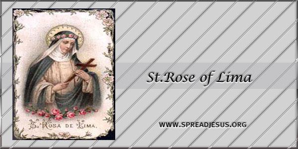 St.rose of Lima Virgin