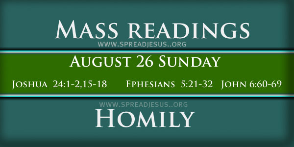 Homily for the twenty-first Sunday