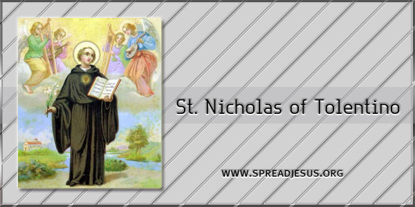 Saint of the day St Nicholas of Tolentino September 10