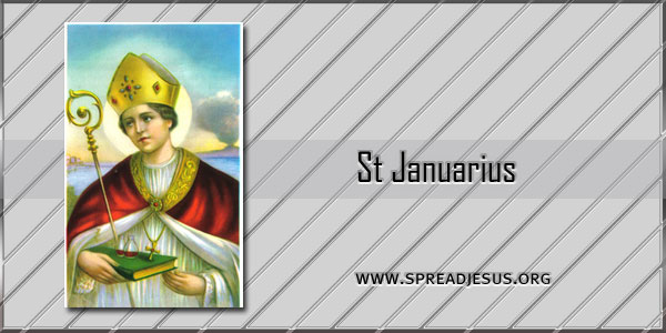 St Januarius Bishop Martyr saint of the day September 19