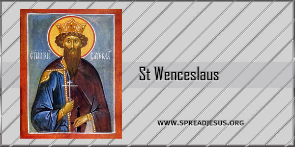 St Wenceslaus Saint of the day September 28