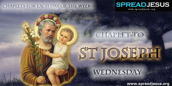Wednesday Chaplet To St Joseph CHAPLETS FOR EACH DAY OF THE WEEK