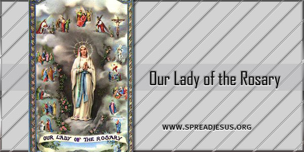 """Our Lady of the Rosary The term """"rosary"""" comes from the Latin rosarium that alternately implies a rose garden"""
