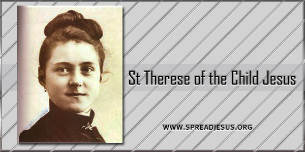 St Therese of the Child Jesus saint of the day October 1