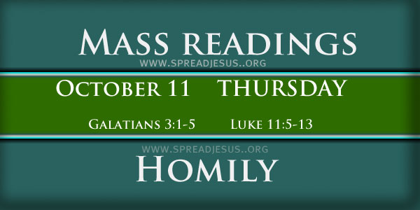 Mass Readings October 11 Thursday 27th Week In Ordinary Time