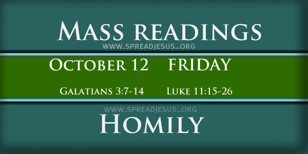 Mass Readings October 12 Friday 27th Week In Ordinary Time