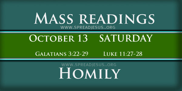Mass Readings October 13 Saturday 27th Week In Ordinary Time