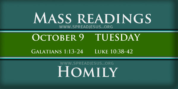 Mass Readings October 09 Tuesday 27th Week In Ordinary Time