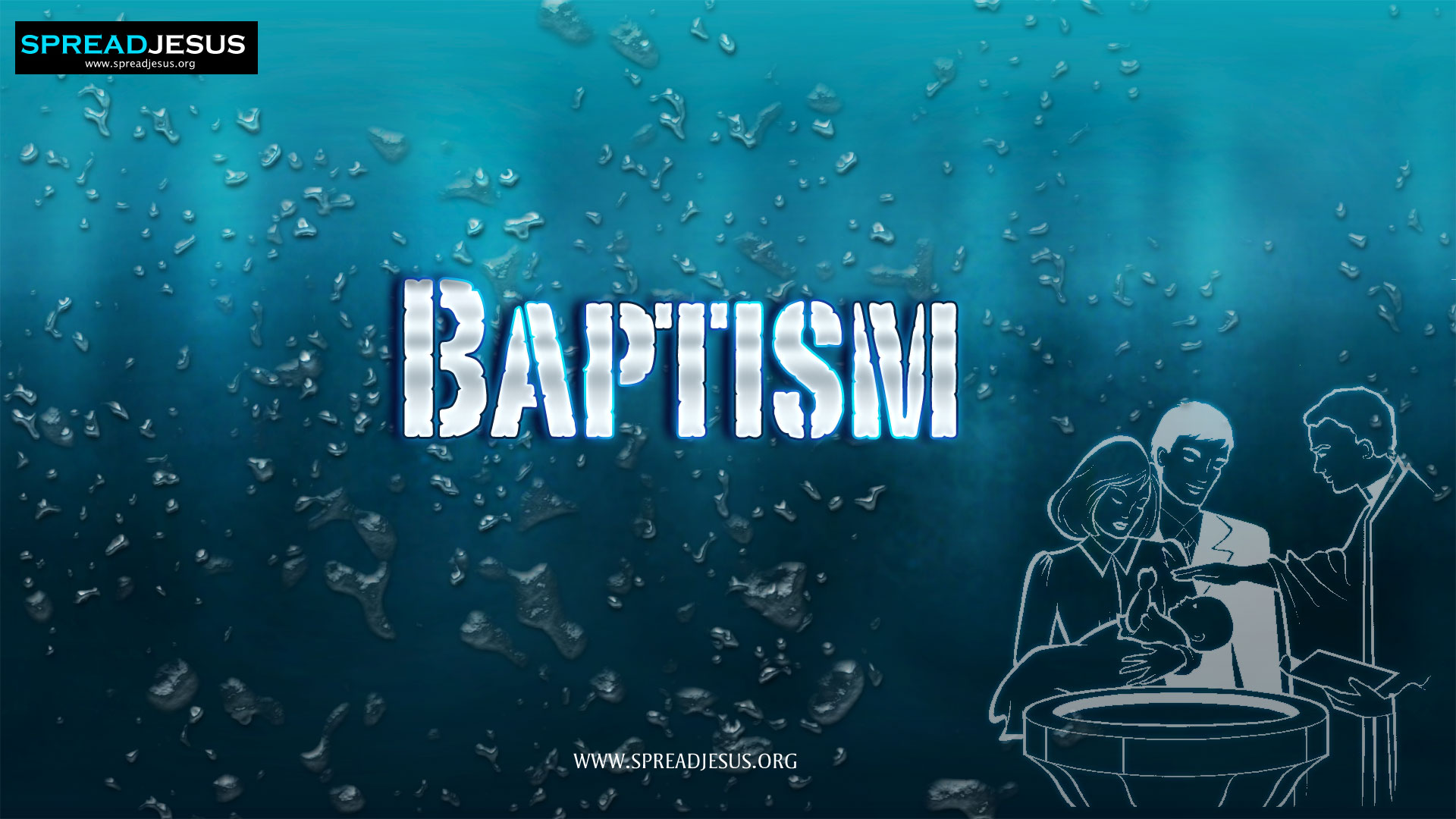 BAPTISM:Through Baptism, we receive the gift of the new birth.:The seven sacraments of the church