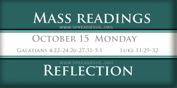 Catholic mass readings October 15 Monday 28TH WEEK
