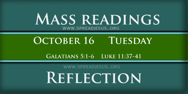Catholic mass readings and Reflection October 16 Tuesday