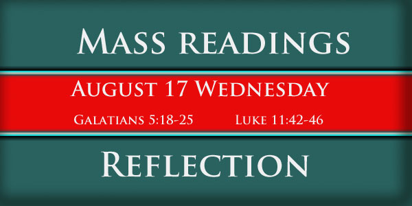 Catholic mass readings and Reflection October 17 Wednesday