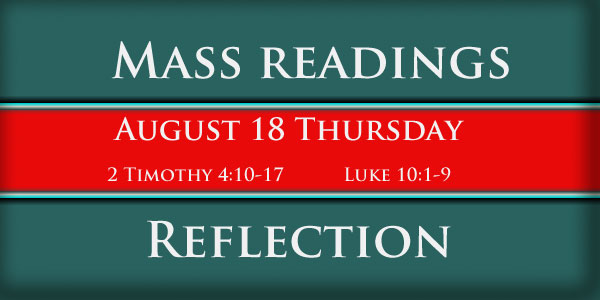 Catholic mass readings and Reflection October 18 Thursday