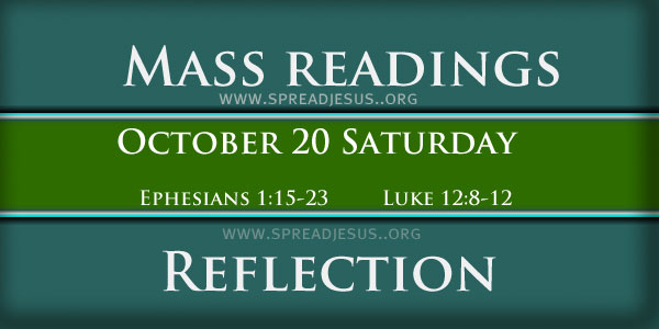 Catholic mass readings and Reflection October 20 Saturday