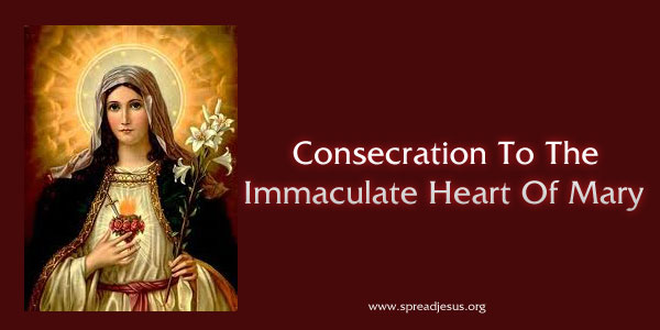 Christian Devotions:Consecration To The Immaculate Heart Of Mary-I renew and ratify today in thy Heart, O Immaculate Mother, the vows of my Baptism; I renounce for ever Satan, his pomps and works;