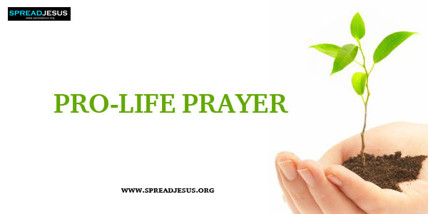 Prayers Christian Prayers Pro- Life Prayer-Catholic Prayer Father in heaven, We thank You for the precious gift of human life to our first parents, Adam and Eve, and to every human being down the centuries till today