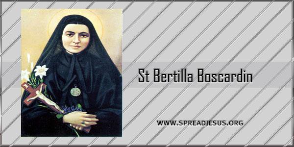 St Bertilla Boscardin Virgin (A. D. 1888 - 1922) Saint of the day October 20
