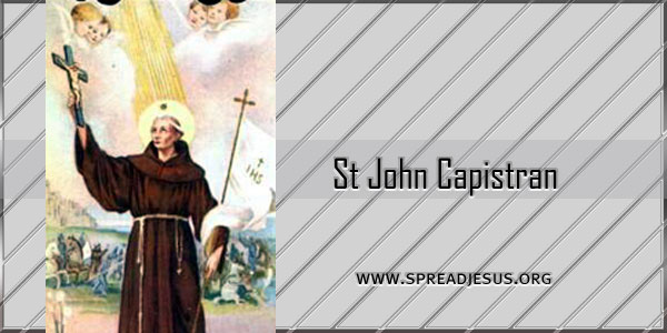 St John Capistran Confessor (1386-1456) Saint Of the day October 23