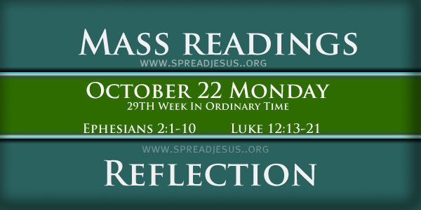 mass readings October 22 Monday