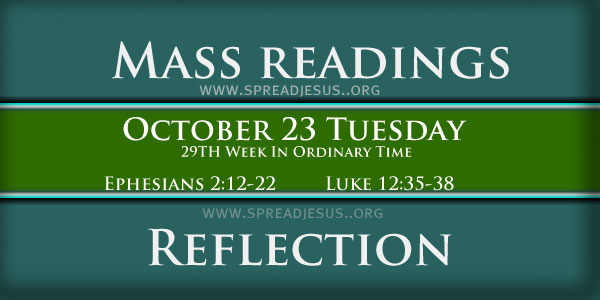 Mass Readings  October 23 Tuesday