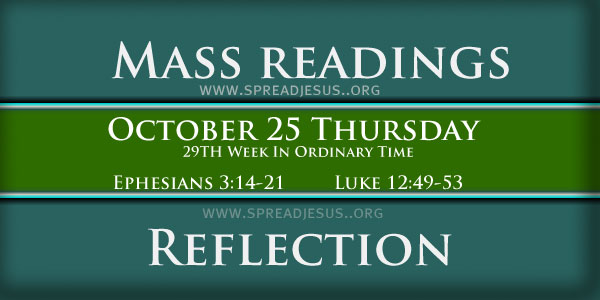 Mass Readings  October 25 Thursday