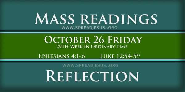 Mass Readings  October 26 Friday