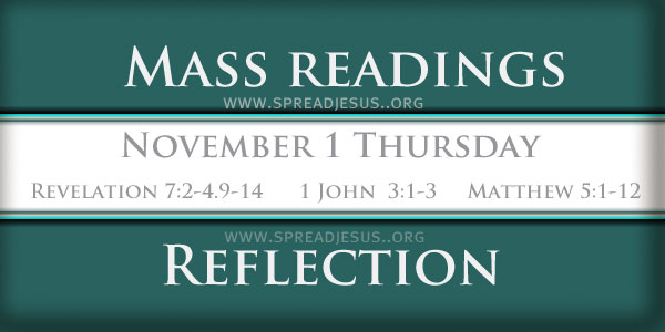 Catholic mass readings November 01Thursday 30TH WEEK IN ORDINARY TIME
