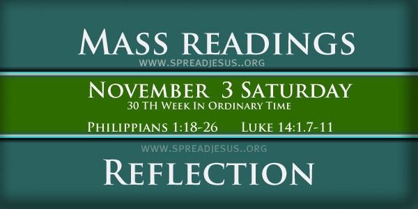 Catholic mass readings November 03 Saturday 30TH WEEK IN ORDINARY TIME