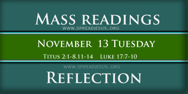 Mass Readings  November13