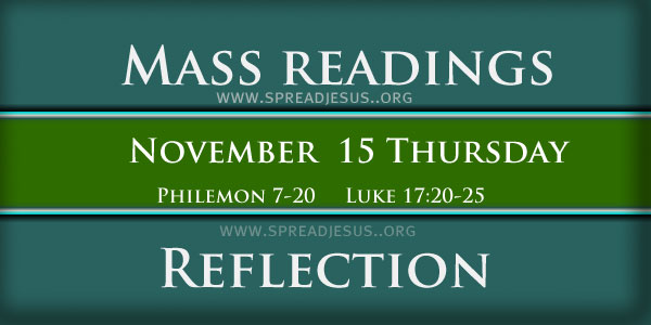 Mass Readings  November 15