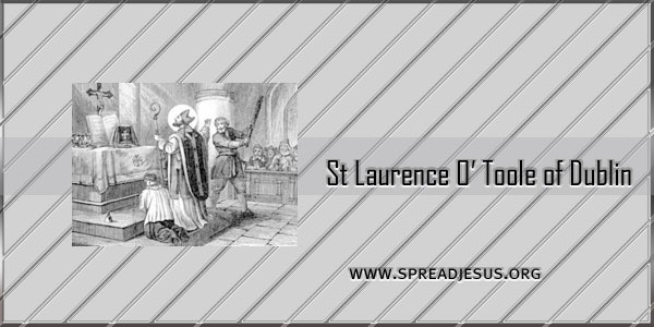 Catholic Saint St Laurence O' Toole of Dublin Bishop (1125-1180) Saint of the day November 14