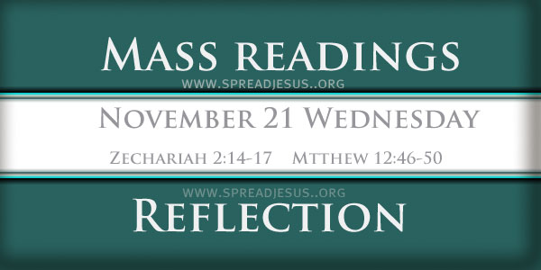 Mass Readings  November 21 Wednesday