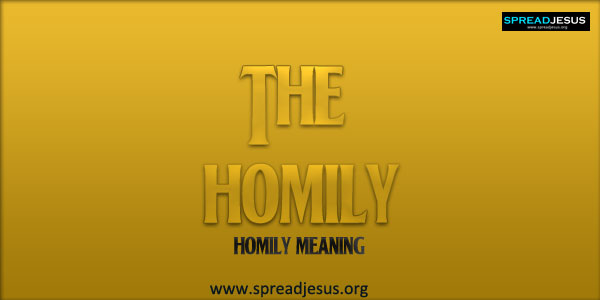 Meaning of Homily