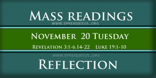 Mass Readings  November 20