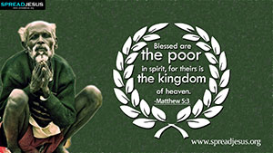 Matthew 5:3 BIBLE Quotes HD Wallpapers Download Blessed are the poor in spirit, for theirs is the kingdom of heaven