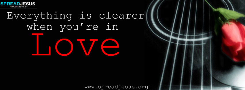 Everything is clearer when you are in love Facebook cover ...