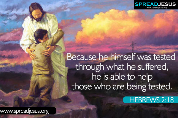 Bible quotes Whatsapp images HEBREWS 2:18 Download