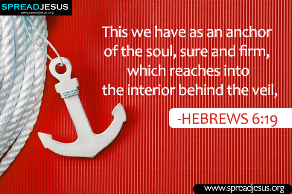 Bible quotes Whatsapp images HEBREWS 6:19 Download