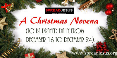 A Christmas Novena (to be prayed daily from December 16 to December 24).