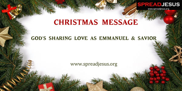 CHRISTMAS MESSAGE GOD\'S SHARING LOVE AS EMMANUEL