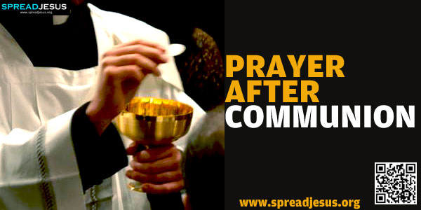 PRAYER AFTER COMMUNION:Lord jesus, I believe that I have received your body and blood..-spreadjesus.org