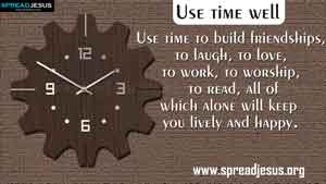 TIME MANAGEMENT QUOTES-Use time well