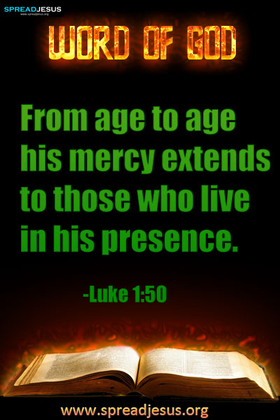 Verses of the day Luke 1:50 ✠WORD OF GOD✠WORD OF GOD TODAY